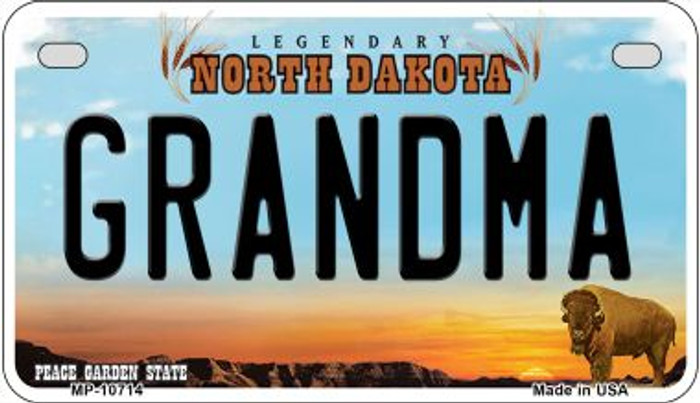 Grandma North Dakota Wholesale Novelty Metal Motorcycle Plate MP-10714
