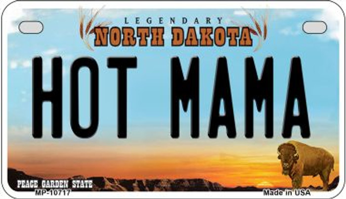 Hot Mama North Dakota Wholesale Novelty Metal Motorcycle Plate MP-10717