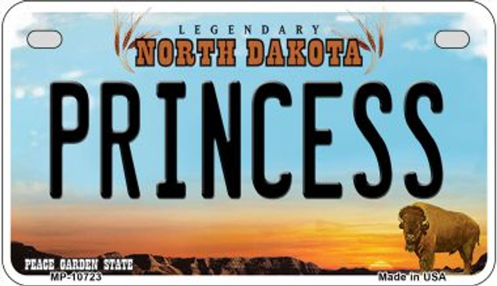 Princess North Dakota Wholesale Novelty Metal Motorcycle Plate MP-10723