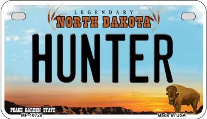 Hunter North Dakota Wholesale Novelty Metal Motorcycle Plate MP-10728