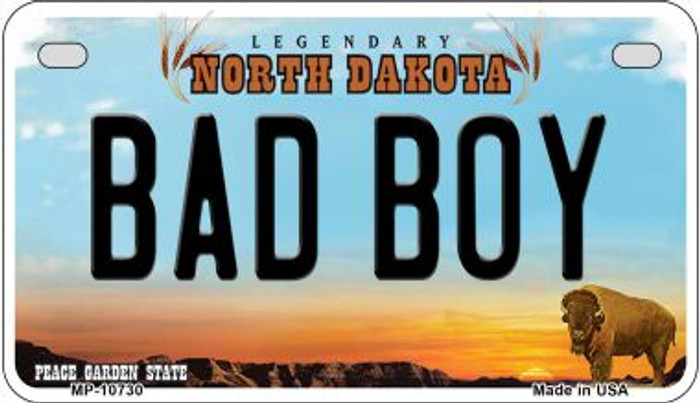Bad Boy North Dakota Wholesale Novelty Metal Motorcycle Plate MP-10730