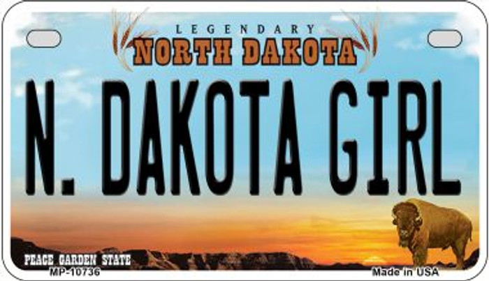 N Dakota Girl Wholesale Novelty Metal Motorcycle Plate MP-10736
