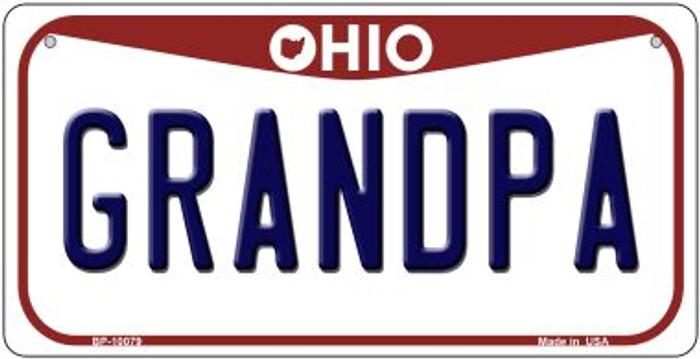 Grandpa Ohio Wholesale Novelty Metal Bicycle Plate BP-10079