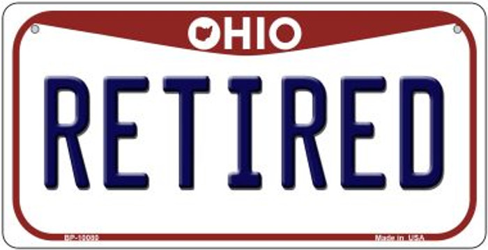 Retired Ohio Wholesale Novelty Metal Bicycle Plate BP-10080