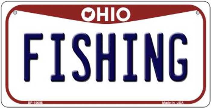 Fishing Ohio Wholesale Novelty Metal Bicycle Plate BP-10086