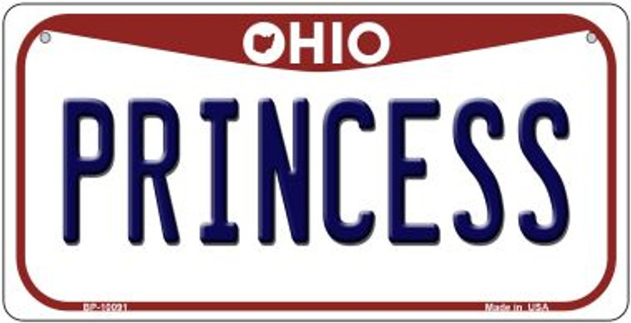 Princess Ohio Wholesale Novelty Metal Bicycle Plate BP-10091