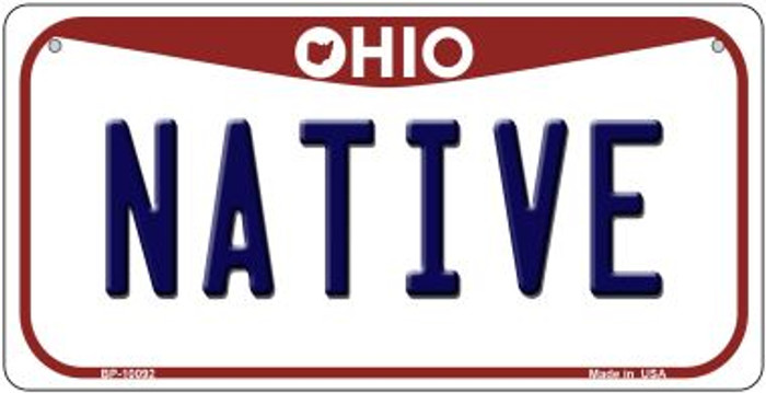Native Ohio Wholesale Novelty Metal Bicycle Plate BP-10092