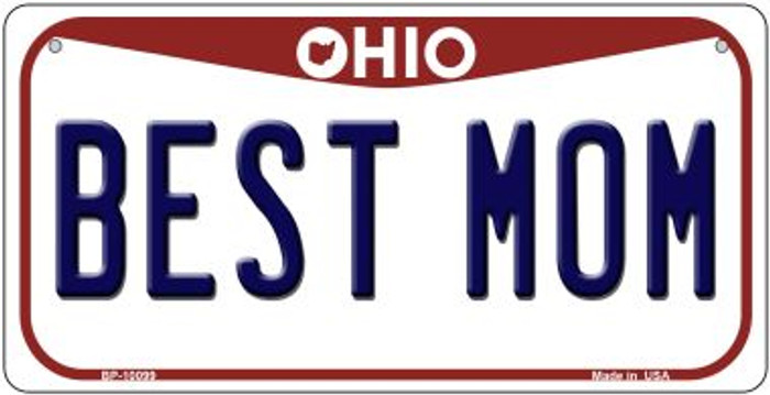 Best Mom Ohio Wholesale Novelty Metal Bicycle Plate BP-10099