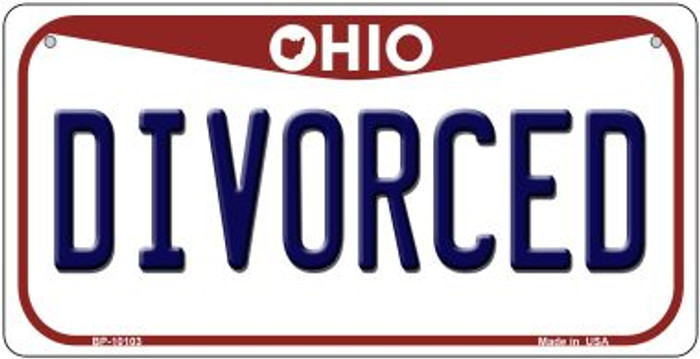 Divorced Ohio Wholesale Novelty Metal Bicycle Plate BP-10103