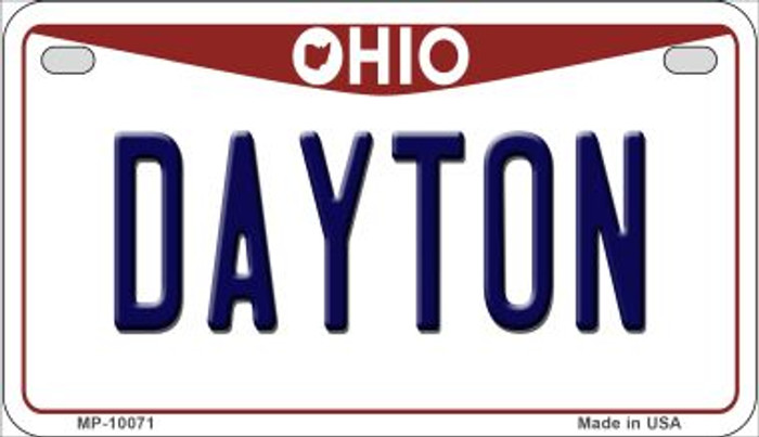 Dayton Ohio Wholesale Novelty Metal Motorcycle Plate MP-10071