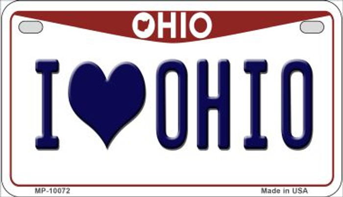 I Love Ohio Wholesale Novelty Metal Motorcycle Plate MP-10072
