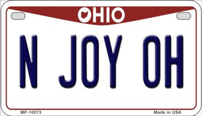 N Joy OH Ohio Wholesale Novelty Metal Motorcycle Plate MP-10073