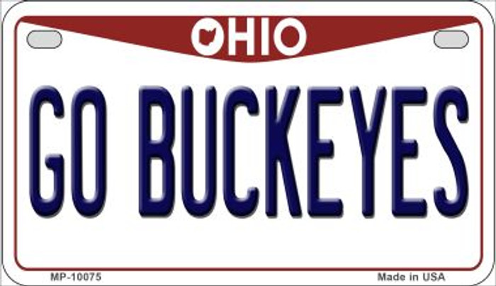 Go Buckeyes Ohio Wholesale Novelty Metal Motorcycle Plate MP-10075