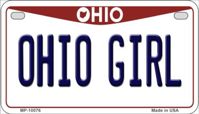Ohio Girl Ohio Wholesale Novelty Metal Motorcycle Plate MP-10076