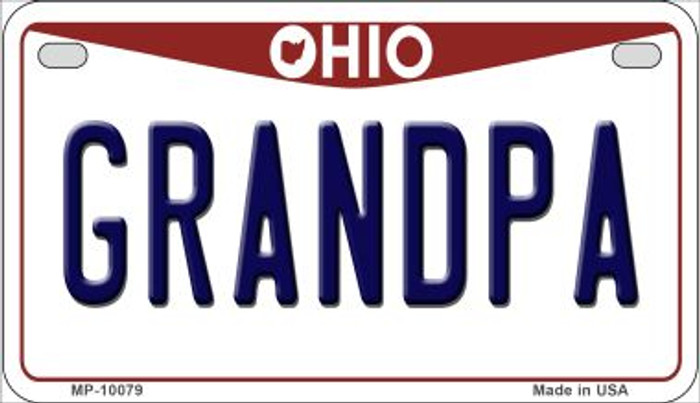 Grandpa Ohio Wholesale Novelty Metal Motorcycle Plate MP-10079