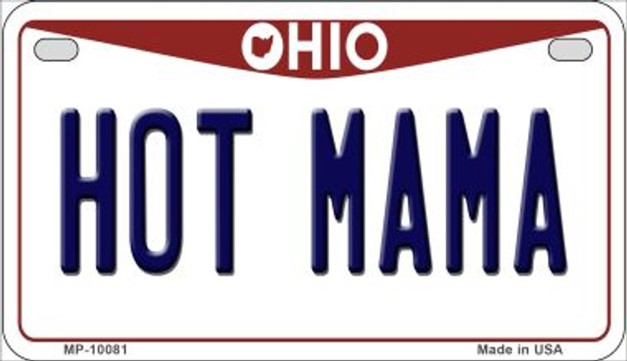 Hot Mama Ohio Wholesale Novelty Metal Motorcycle Plate MP-10081