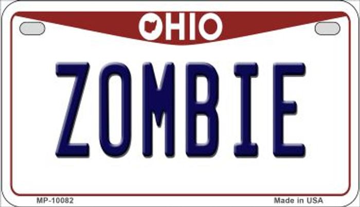 Zombie Ohio Wholesale Novelty Metal Motorcycle Plate MP-10082