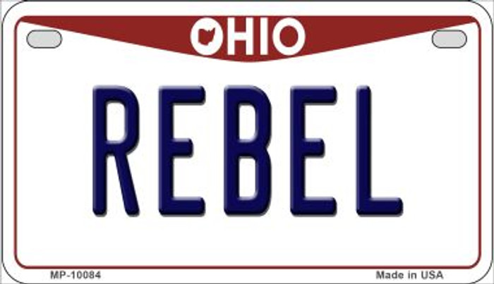 Rebel Ohio Wholesale Novelty Metal Motorcycle Plate MP-10084