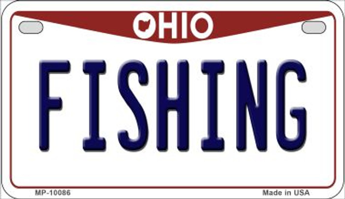 Fishing Ohio Wholesale Novelty Metal Motorcycle Plate MP-10086