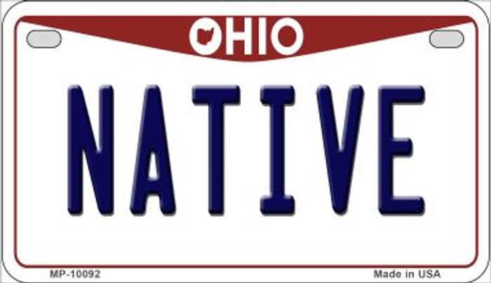 Native Ohio Wholesale Novelty Metal Motorcycle Plate MP-10092