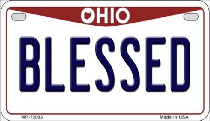 Blessed Ohio Wholesale Novelty Metal Motorcycle Plate MP-10093