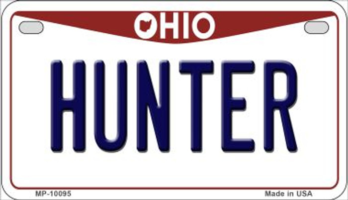 Hunter Ohio Wholesale Novelty Metal Motorcycle Plate MP-10095