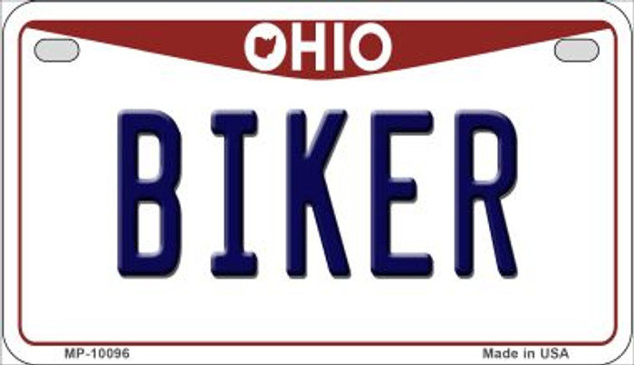 Biker Ohio Wholesale Novelty Metal Motorcycle Plate MP-10096