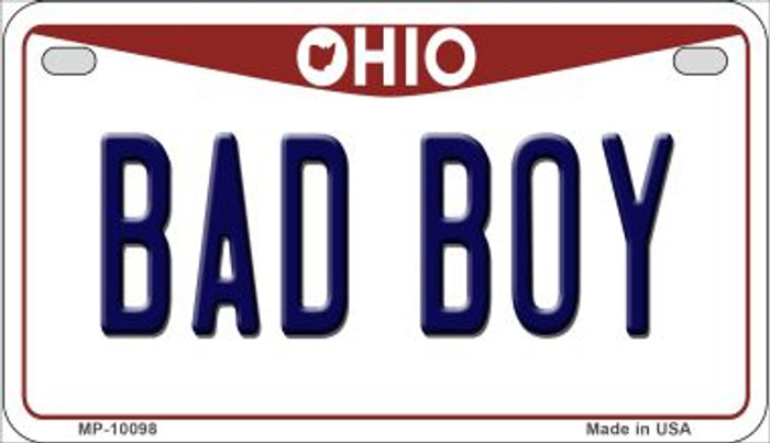 Bad Boy Ohio Wholesale Novelty Metal Motorcycle Plate MP-10098