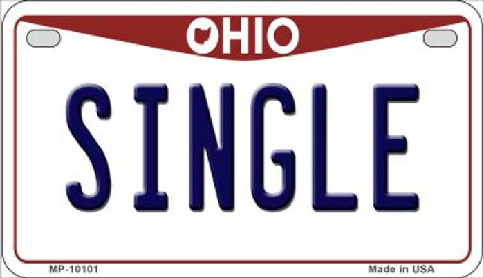 Single Ohio Wholesale Novelty Metal Motorcycle Plate MP-10101