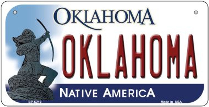 Oklahoma Wholesale Novelty Metal Bicycle Plate BP-6219