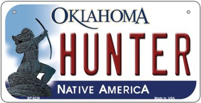 Hunter Oklahoma Wholesale Novelty Metal Bicycle Plate BP-6226