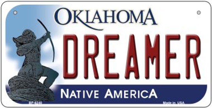 Dreamer Oklahoma Wholesale Novelty Metal Bicycle Plate BP-6240