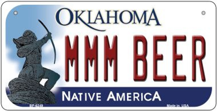 MMM Beer Oklahoma Wholesale Novelty Metal Bicycle Plate BP-6249