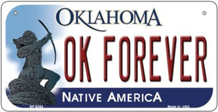 OK Forever Oklahoma Wholesale Novelty Metal Bicycle Plate BP-6264