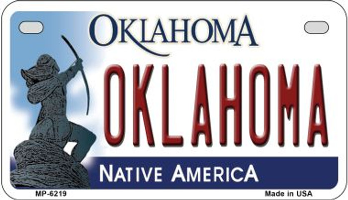 Oklahoma Wholesale Novelty Metal Motorcycle Plate MP-6219
