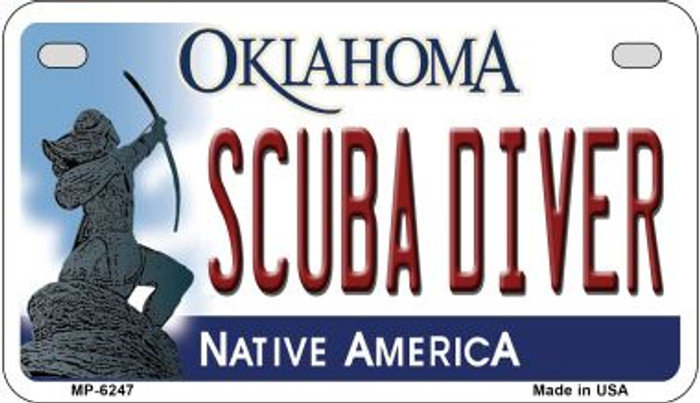 Scuba Diver Oklahoma Wholesale Novelty Metal Motorcycle Plate MP-6247