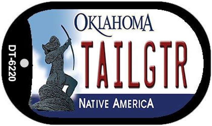 Tailgtr Oklahoma Wholesale Novelty Metal Dog Tag Necklace DT-6220