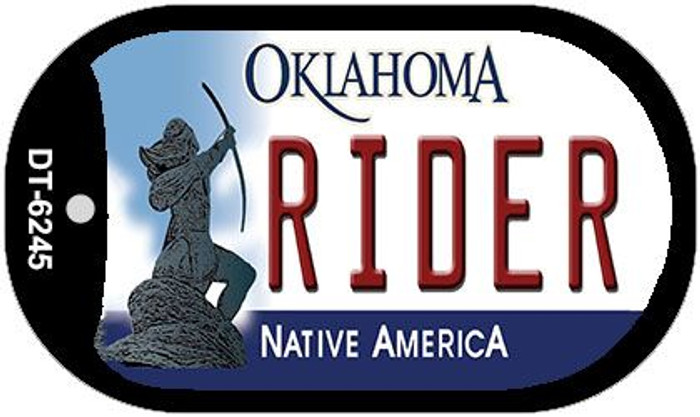 Rider Oklahoma Wholesale Novelty Metal Dog Tag Necklace DT-6245