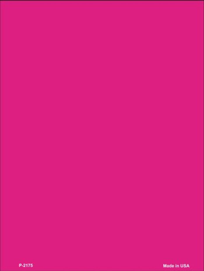 Solid Hot Pink Wholesale Metal Novelty Parking Sign