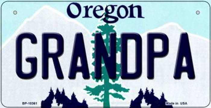 Grandpa Oregon Wholesale Novelty Metal Bicycle Plate BP-10361