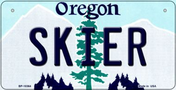 Skier Oregon Wholesale Novelty Metal Bicycle Plate BP-10364