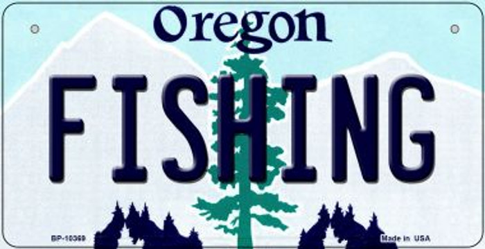 Fishing Oregon Wholesale Novelty Metal Bicycle Plate BP-10369