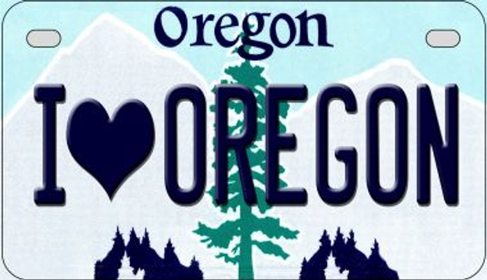 I Love Oregon Wholesale Novelty Metal Motorcycle Plate MP-10339