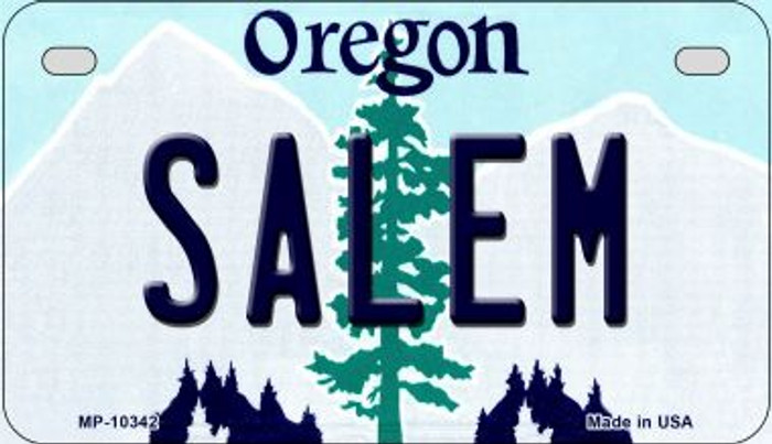 Salem Oregon Wholesale Novelty Metal Motorcycle Plate MP-10342