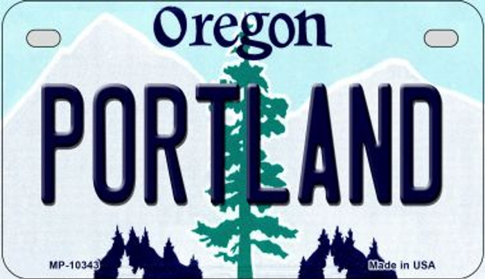 Portland Oregon Wholesale Novelty Metal Motorcycle Plate MP-10343