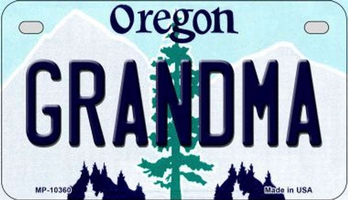 Grandma Oregon Wholesale Novelty Metal Motorcycle Plate MP-10360