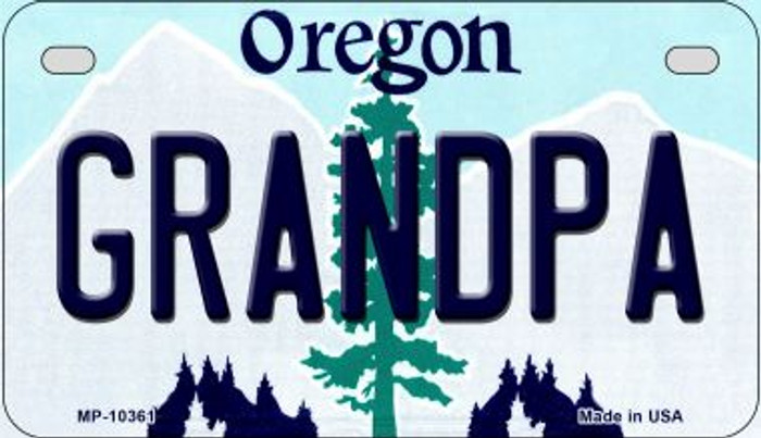 Grandpa Oregon Wholesale Novelty Metal Motorcycle Plate MP-10361