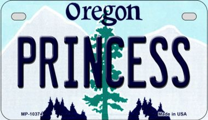 Princess Oregon Wholesale Novelty Metal Motorcycle Plate MP-10374