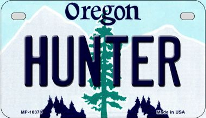 Hunter Oregon Wholesale Novelty Metal Motorcycle Plate MP-10378