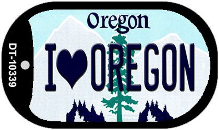 I Love Oregon Wholesale Novelty Metal Dog Tag Necklace DT-10339